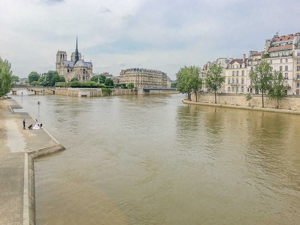 river seine after the flooding
