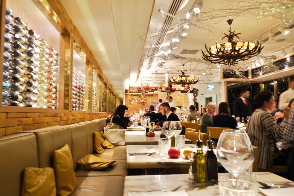 San Carlo Cicchettie Restaurant in London Picadilly