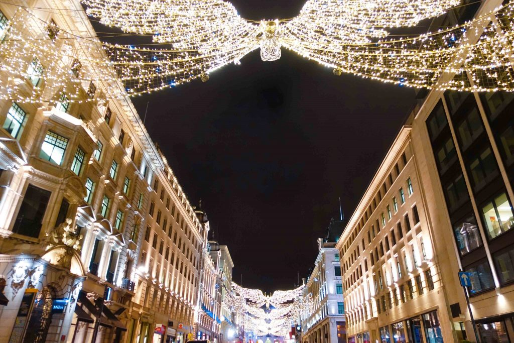Christmas decoration at St. Regent Street