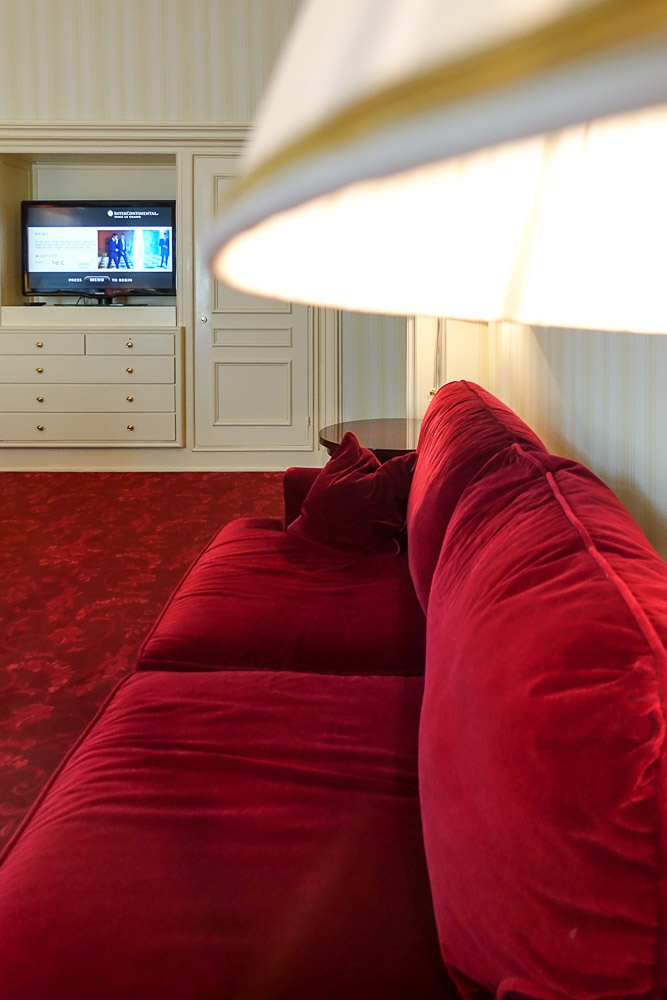 Intercontinental Paris Le Grand Red Sofa