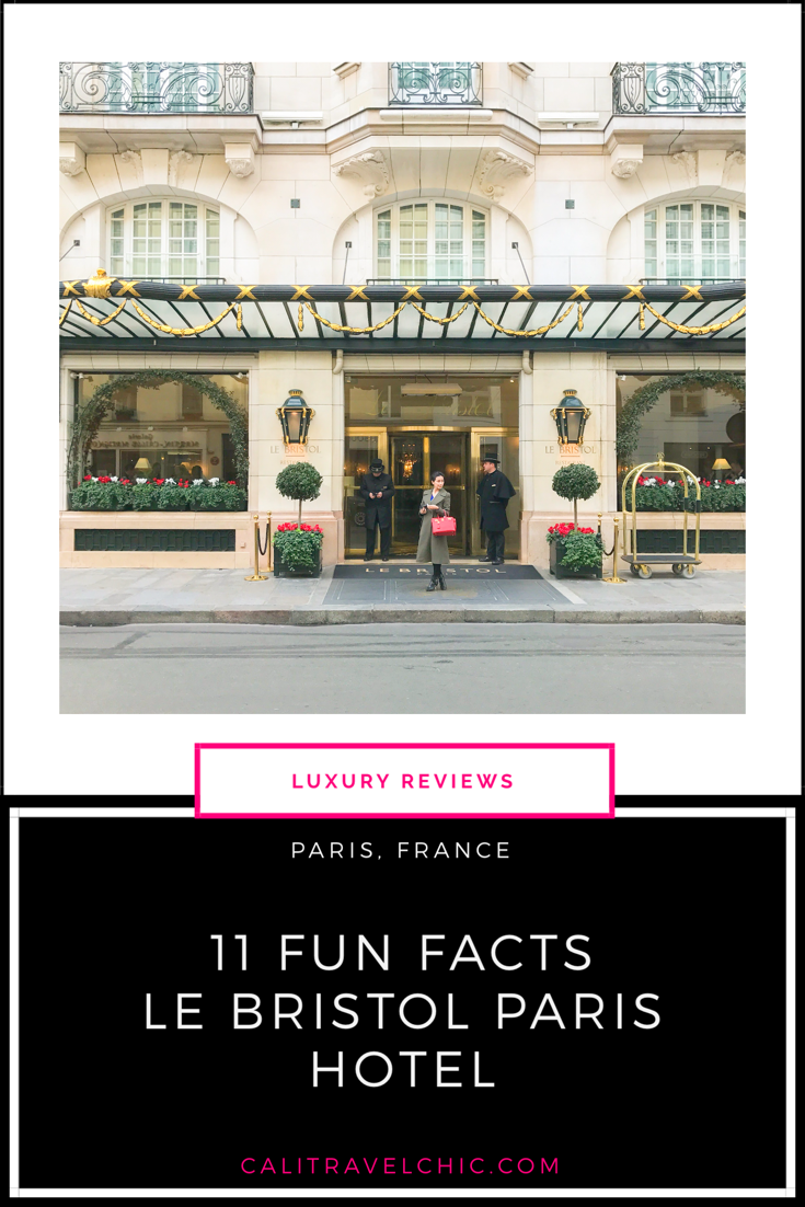 11 Fun Facts about Hotel Le Bristol Paris